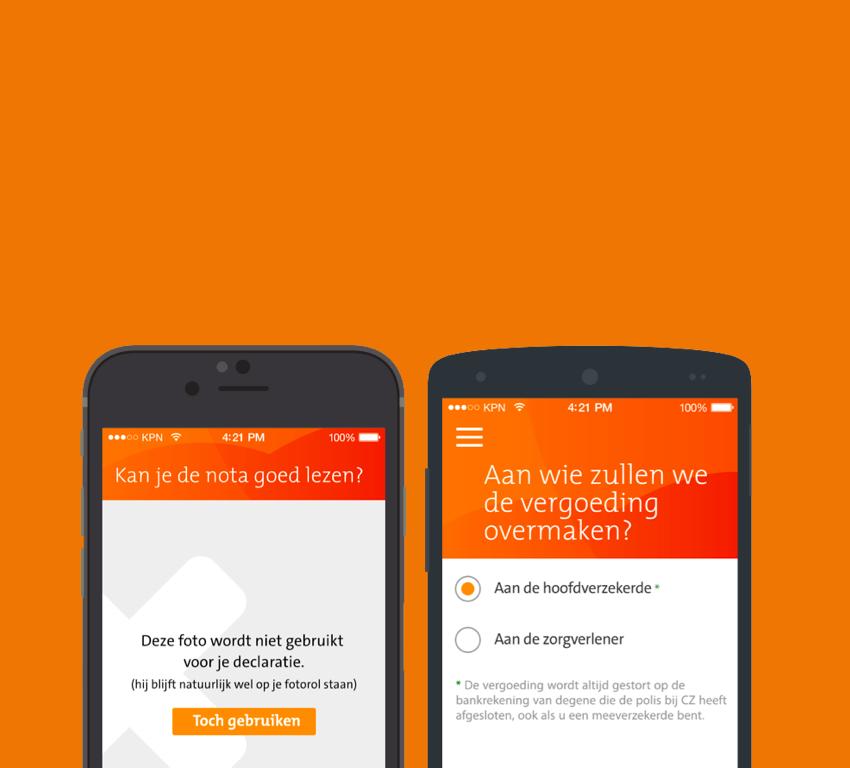 Declaratie app - CZ Zorgverzekeringen